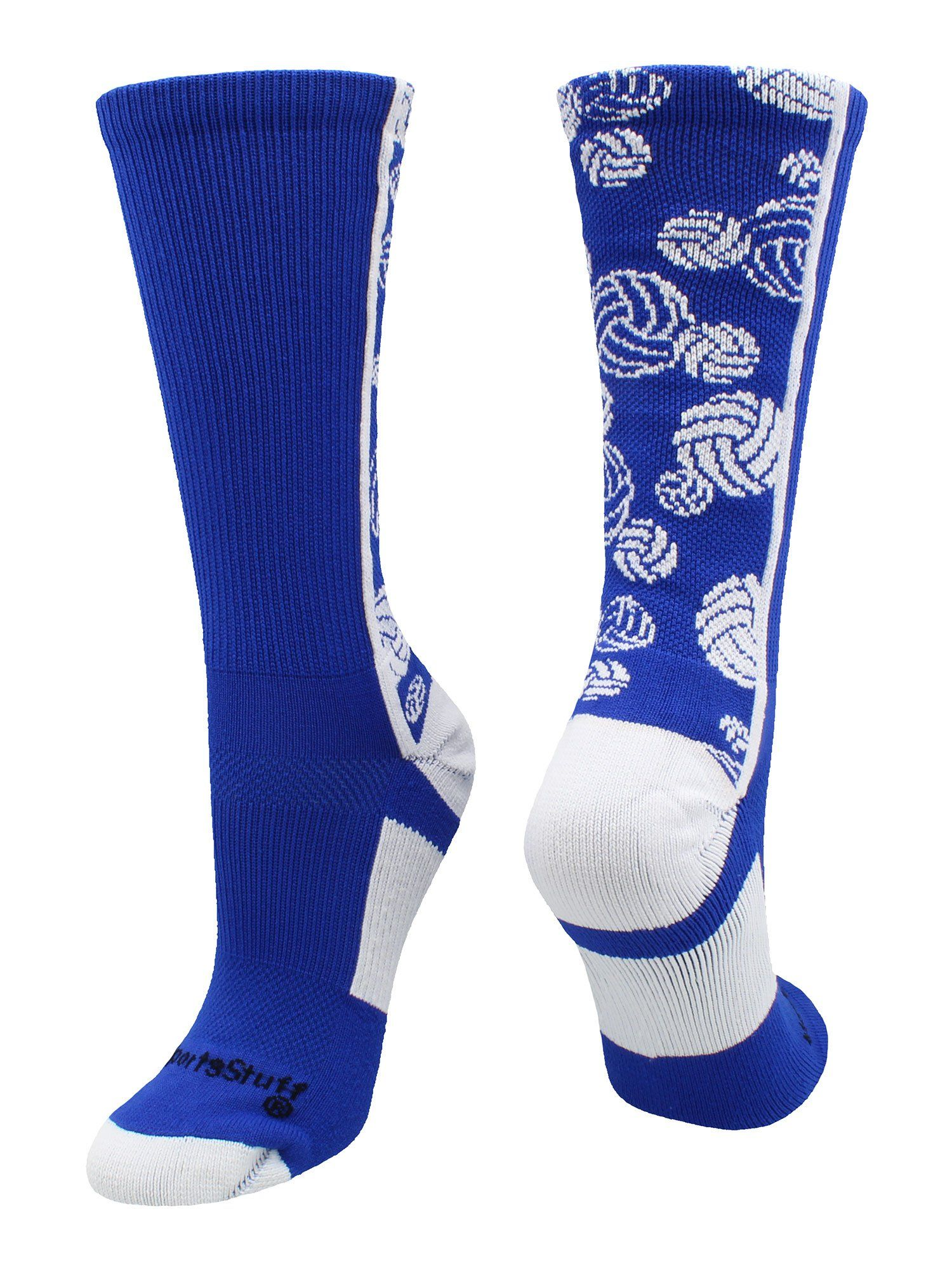 Crazy Volleyball Logo Crew Socks Multiple Colors Socks Crew Socks Volleyball Socks