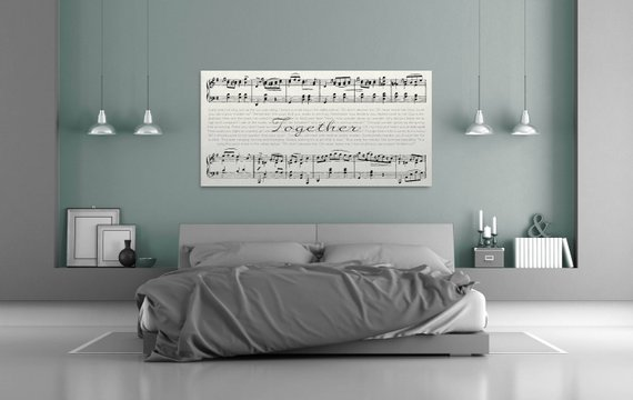 Ten year anniversary th  personalized song canvas also rh pinterest