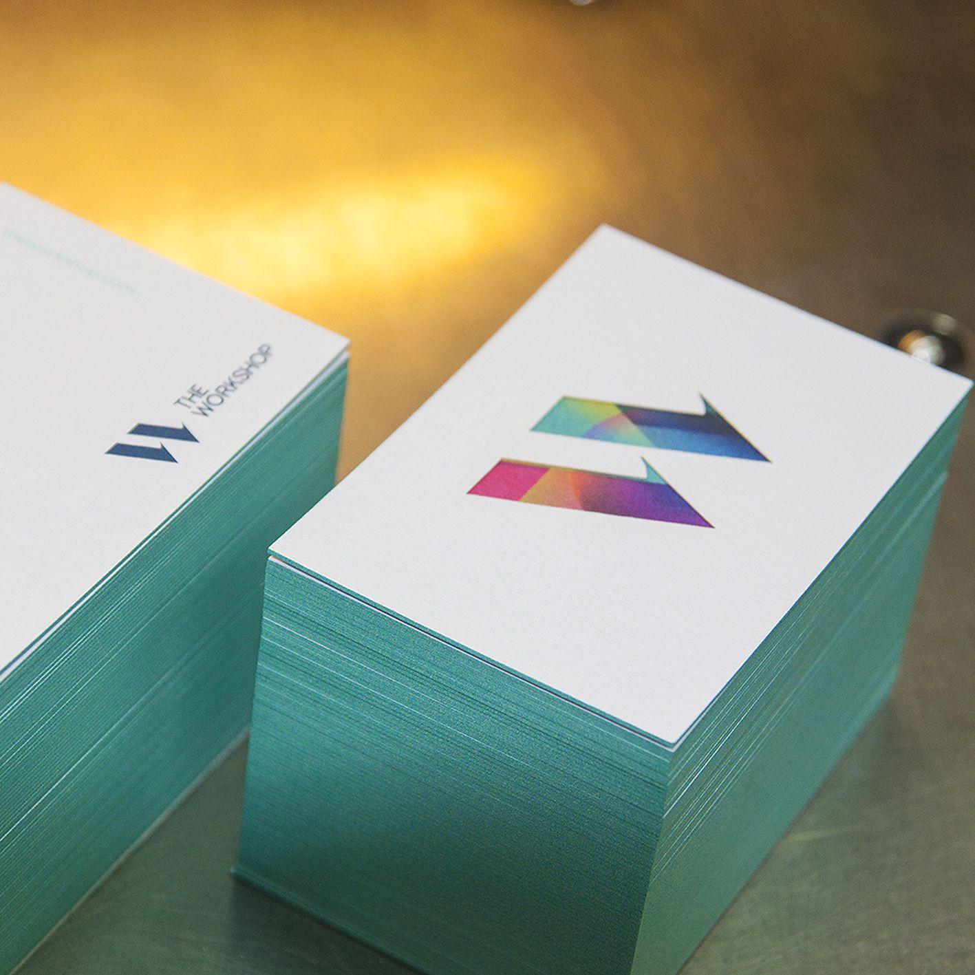 Schicke Visitenkarten Kanten Mit Farbschnitt Aus 2 Bogen