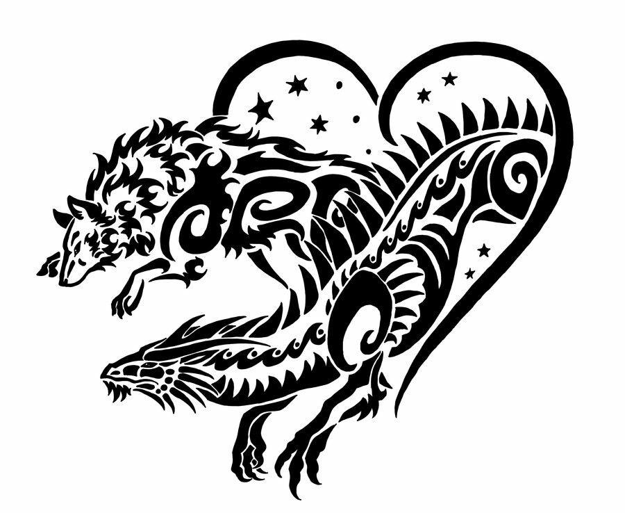 современные картинки татуировок в виде животных первую