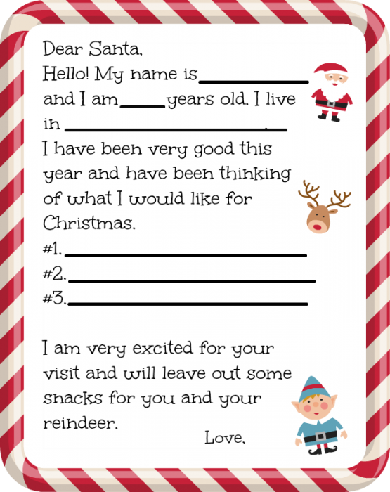 Dear Santa Letter Template Suyhi Margarethaydon Com