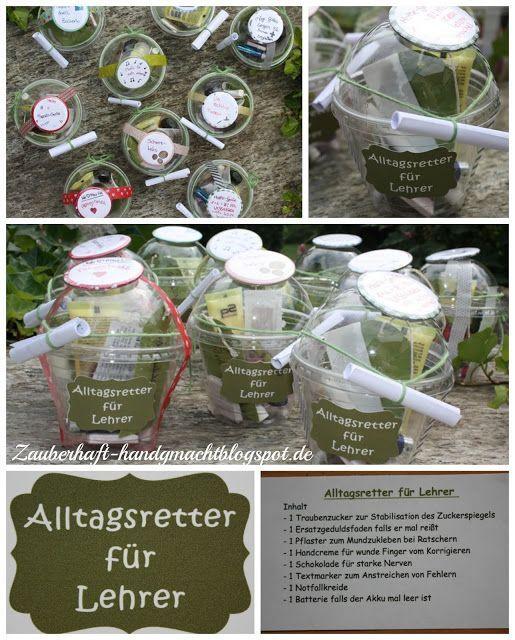 Alltagsretter Fur Lehrer Geschenke Diy Presents Teacher Gifts