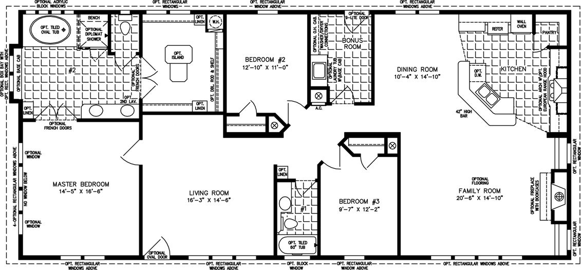 The Tnr 46817w Manufactured Home Floor Plan Jacobsen Homes Manufactured Homes Floor Plans Craftsman House Plans Luxury House Floor Plans