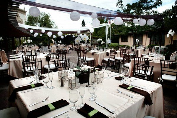 Reception layout with market lights Venues Japanese Friendship