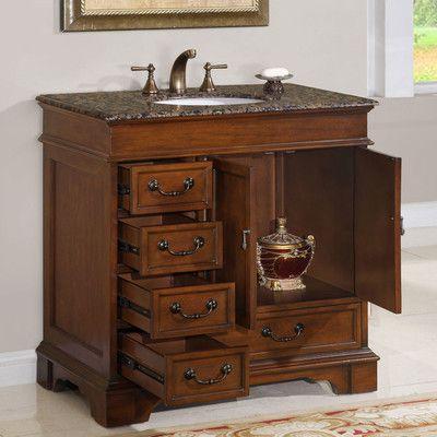 Features Bathroom Vanity Cabinet Single Sink Mdf Panel