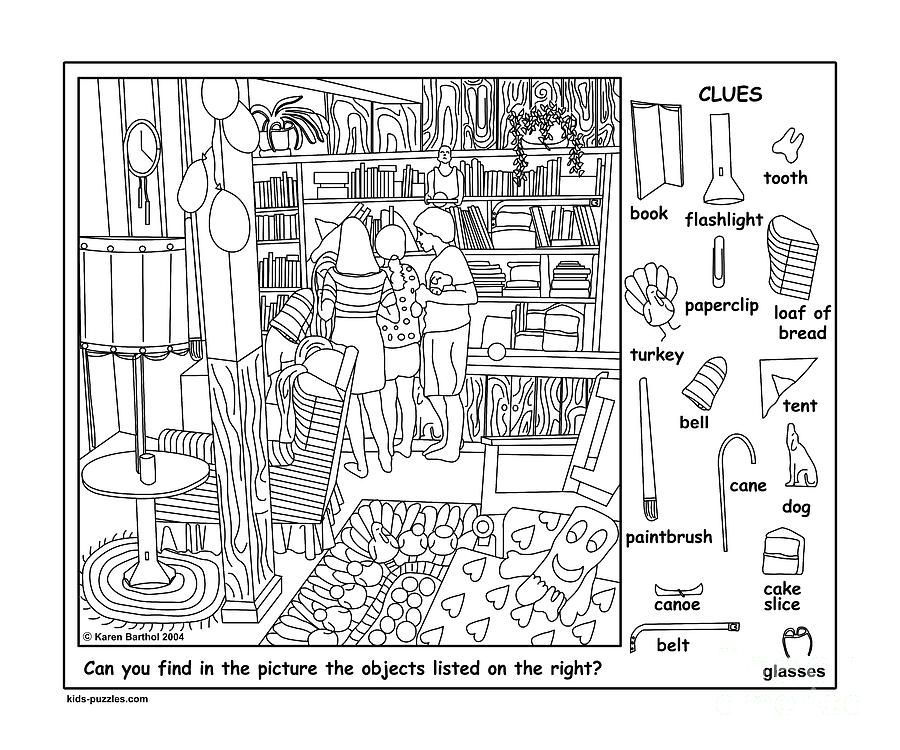 friends hidden objects puzzle digital art by karen barthol jocuri pe hartie hidden. Black Bedroom Furniture Sets. Home Design Ideas