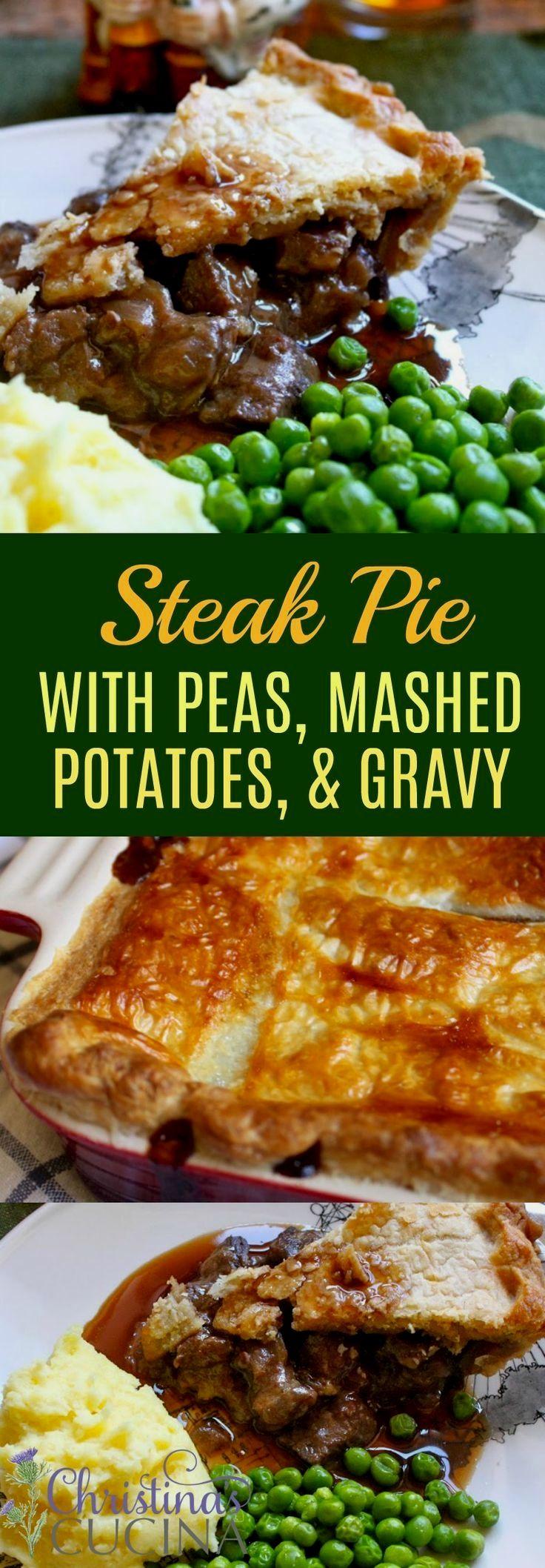 Steak pie, Meat pie recipe, Beef recipes