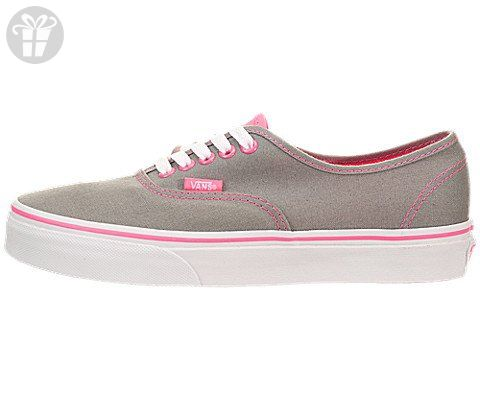 7fcff1501dab6 VANS MENS U AUTHENTIC NEON POP FROST GREY PINK SIZE 5 (*Amazon ...