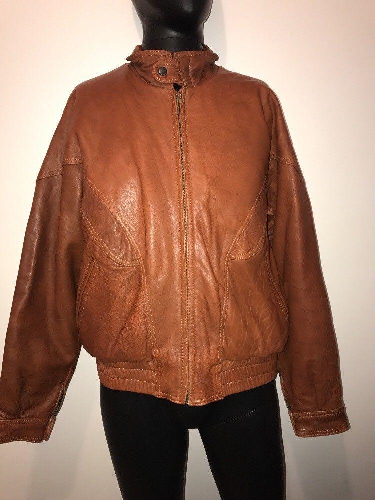 88226e7e2 Berman's Men's Camel Colored Leather Jacket 40 Medium M | Men's ...