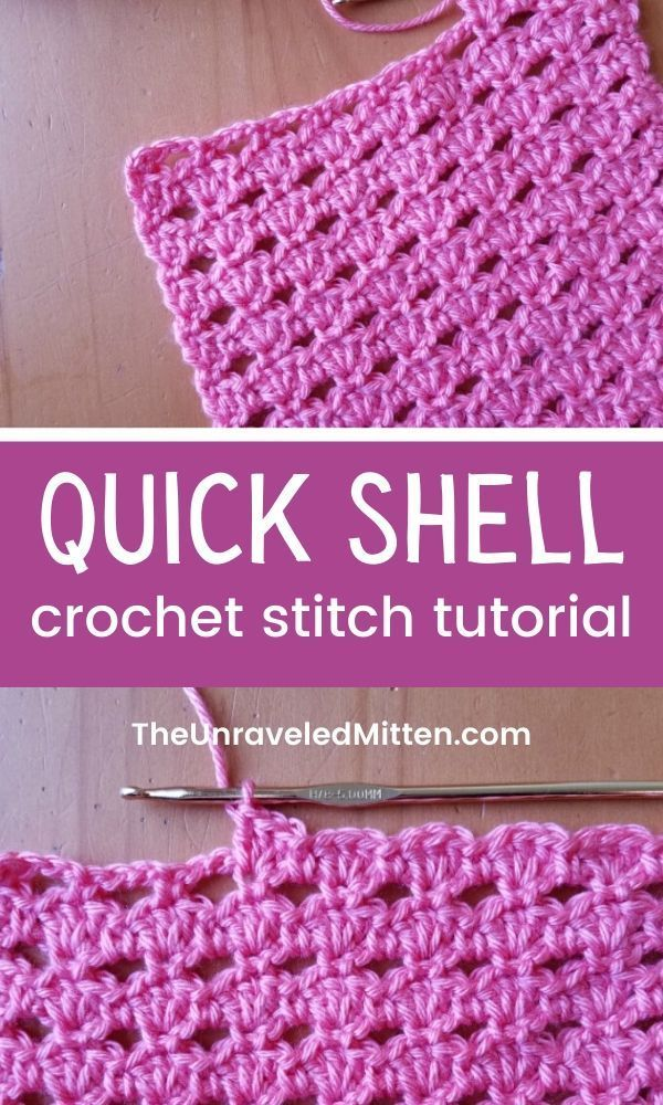 Quick Shell Crochet Stitch Tutorial The Unraveled Mitten Crochet Stitches For Blankets Easy Crochet Stitches Crochet Stitches Tutorial