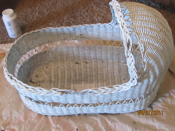 Brown And Teal Doll Bassinet Crafts Baby Bassinet