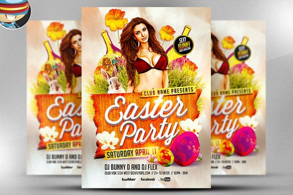 CHRISTMAS FLYER templates Organize a hot DJ Xmas party in this - easter flyer template