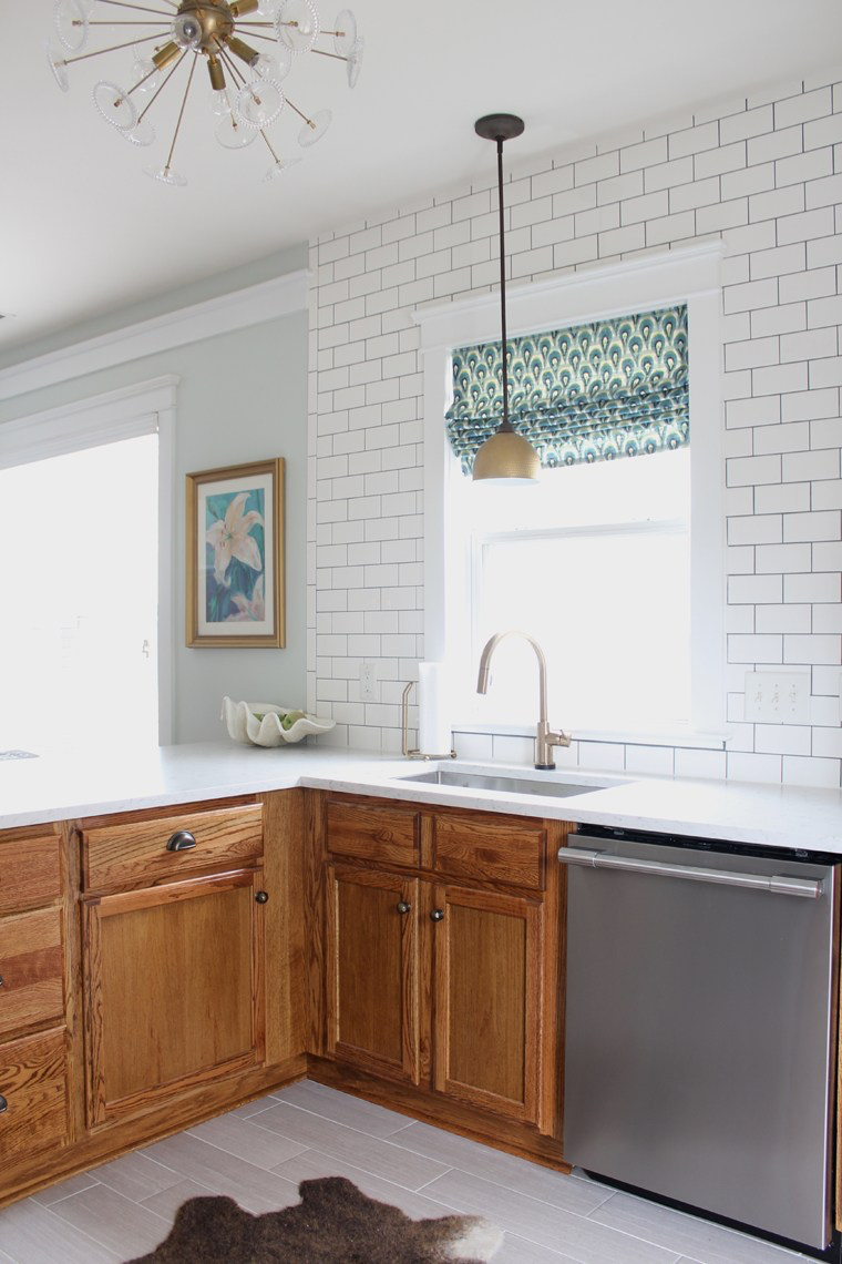 Updating A 90s Kitchen Without Painting Cabinets Stained Kitchen Cabinets Kitchen Renovation Home Decor Kitchen