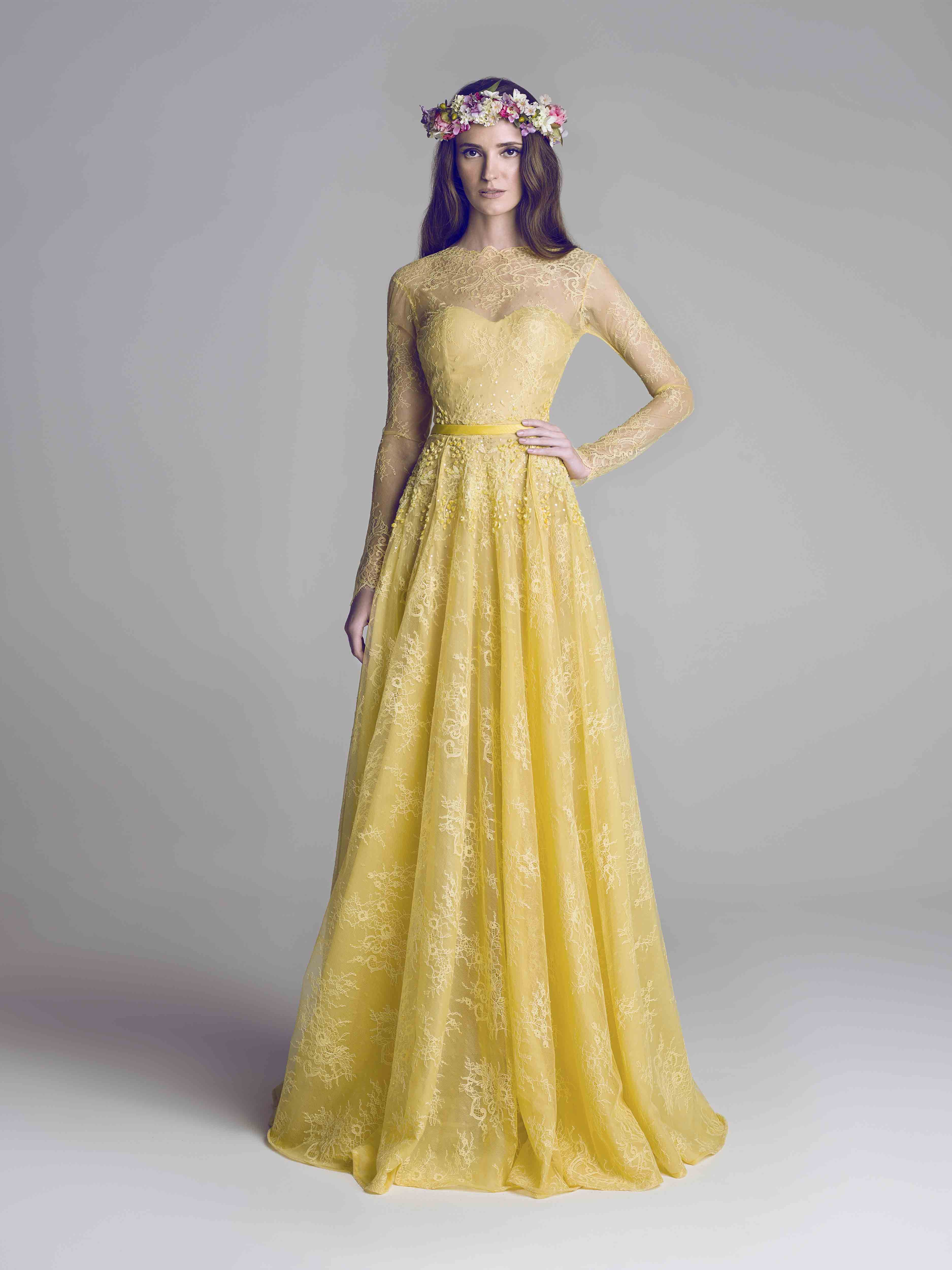 yellow lace dress spring summer 2013 pinterest lace