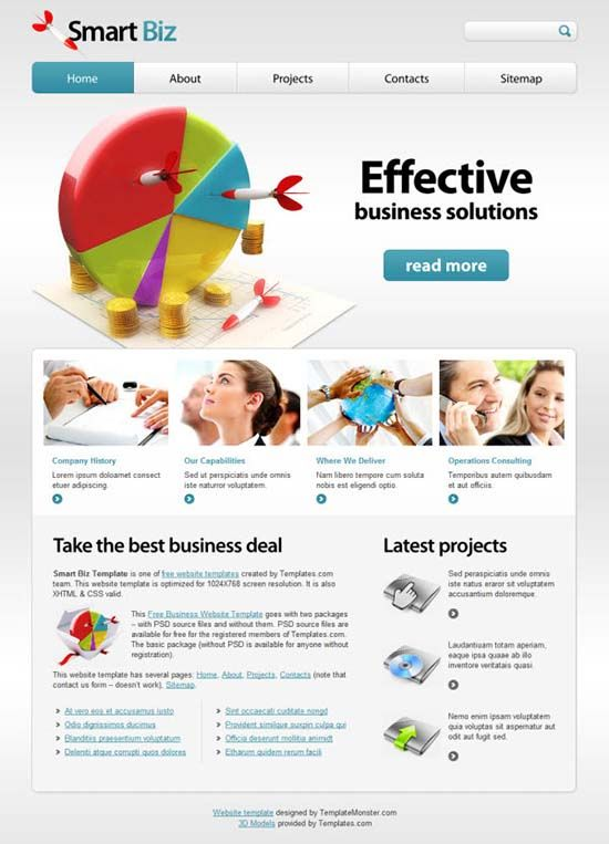 21 fantastic free website templates design pinterest free 21 fantastic free website templates accmission Image collections
