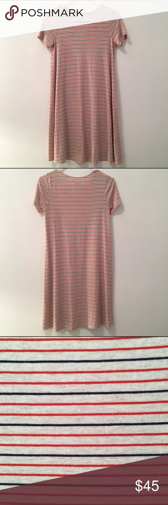 Madewell Swingy Tee Dress Madewell striped swingy tee dress in size XXS. Really soft and super flattering fit! Only.worn once. Madewell Dresses Mini
