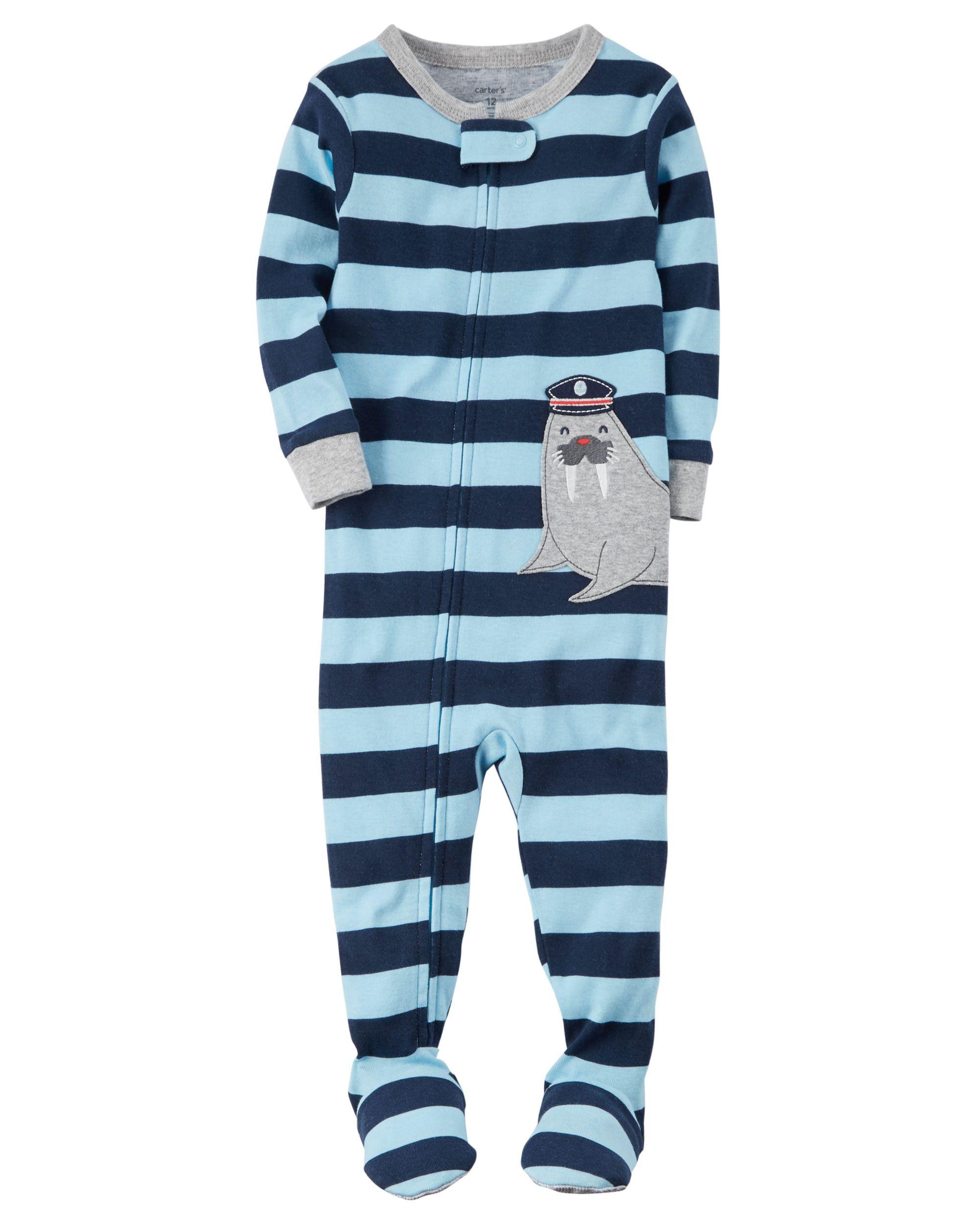 9df0dab0eab2 Toddler Boy 1-Piece Snug Fit Cotton PJs