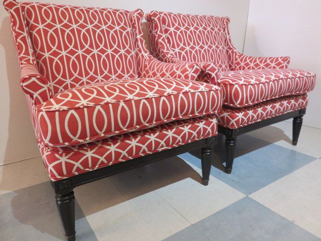 Pair Of Mid-Century Modern Wing Back Living Room Chairs | Mid ...
