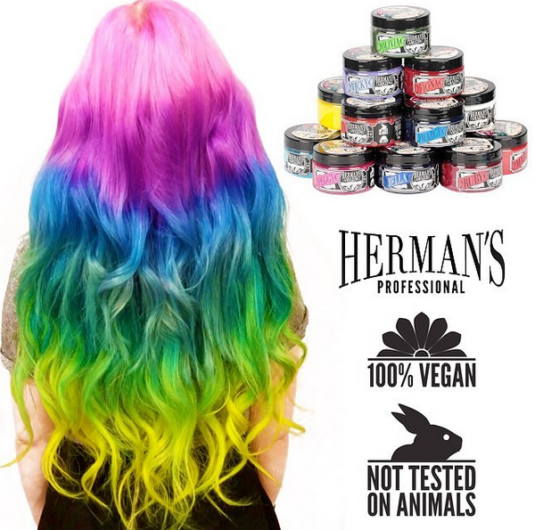 New Arrival Vegan Friendly Cruelty Free Hair Dye From Herman S Amazing Direct Hair Color Cruelty Free Hair Dye Vegan Hair Dye Cruelty Free Hair Products