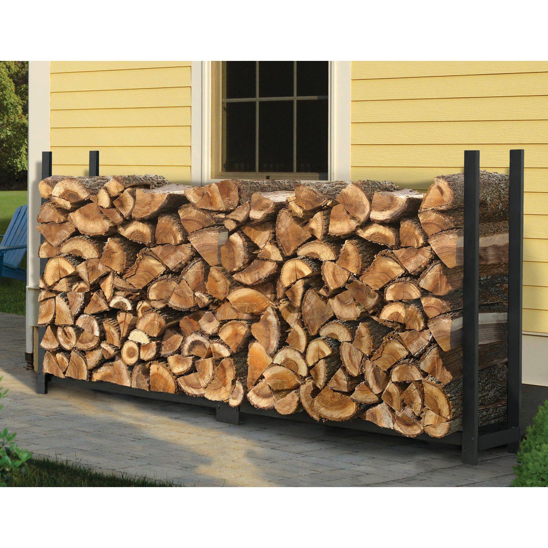 ShelterLogic Rectangle Firewood Rack - 90471   Firewood storage ...