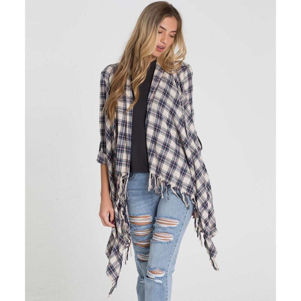 Flannel cardigan womens  Billabong Womens Top Live It Up  Products  Pinterest  Products
