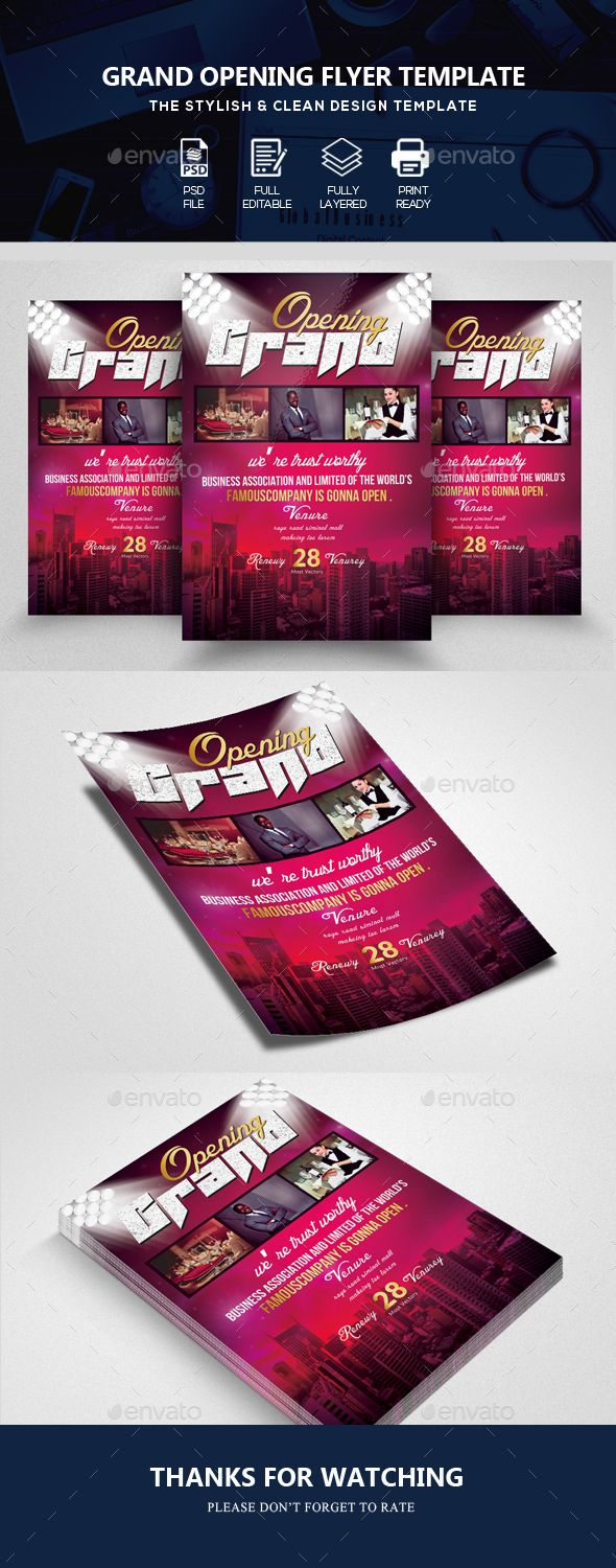 Grand Opening Business Flyer  Business Flyers Grand Opening And