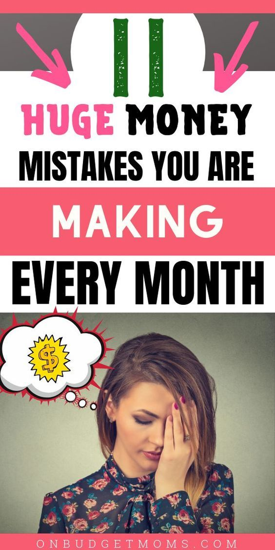 If you are constantly living paycheck to paycheck and can never seem to get ahead then you are probably making at least one of these common money mistakes. Having bad money habits is not a good thing so correcting them now is crucial! #1 on the list is very important! #money #moneysavers #budgettips #savingmoney #moneymistakes