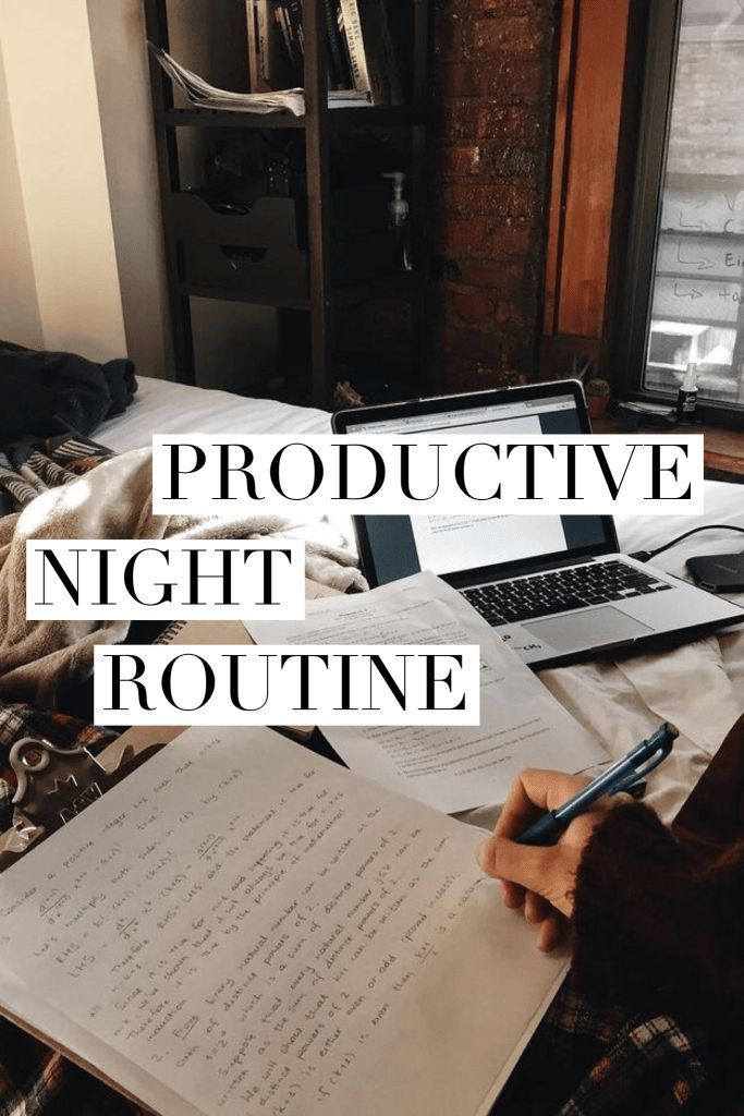Productive night routine – musina