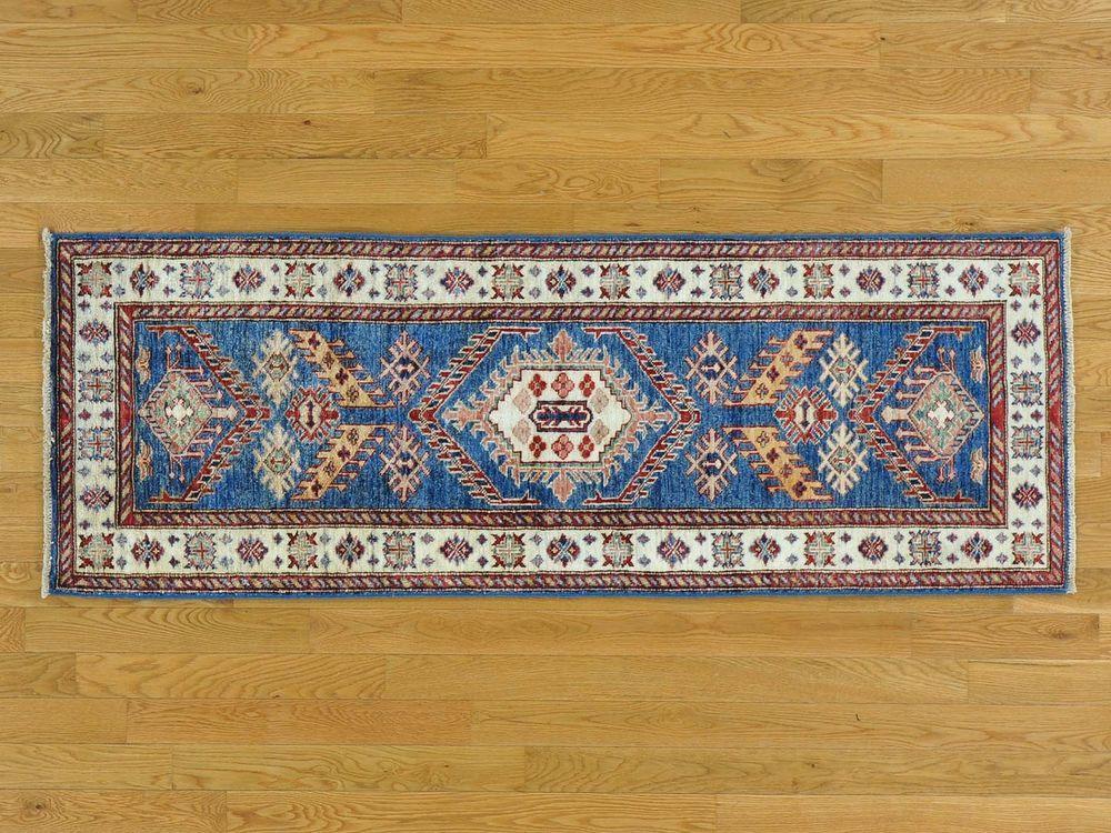 2'x6' Tribal Design Super Kazak Handmade Runner Oriental Rug Pure Wool G24978 #Caucasian
