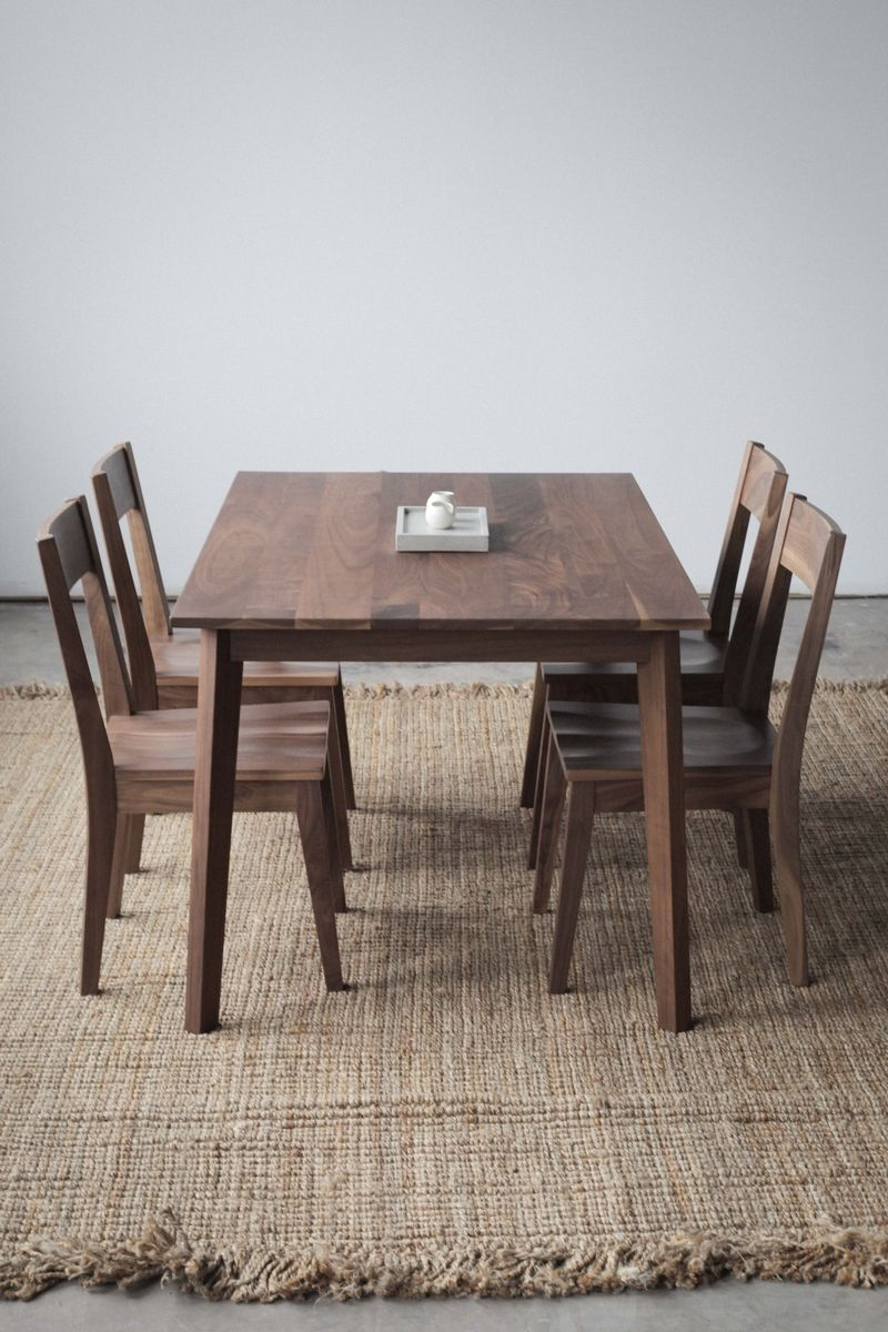 Custom Made Modern Solid Walnut Table By Hedge House Furniture