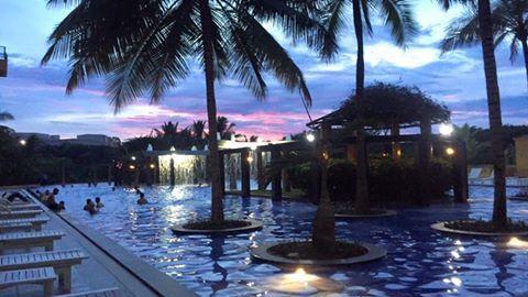Infosys mysore campus swimming pool...night shot