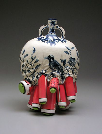 Ming Manga Mashup – Cool Mecha China Fusion Ceramics by Brendan Tang
