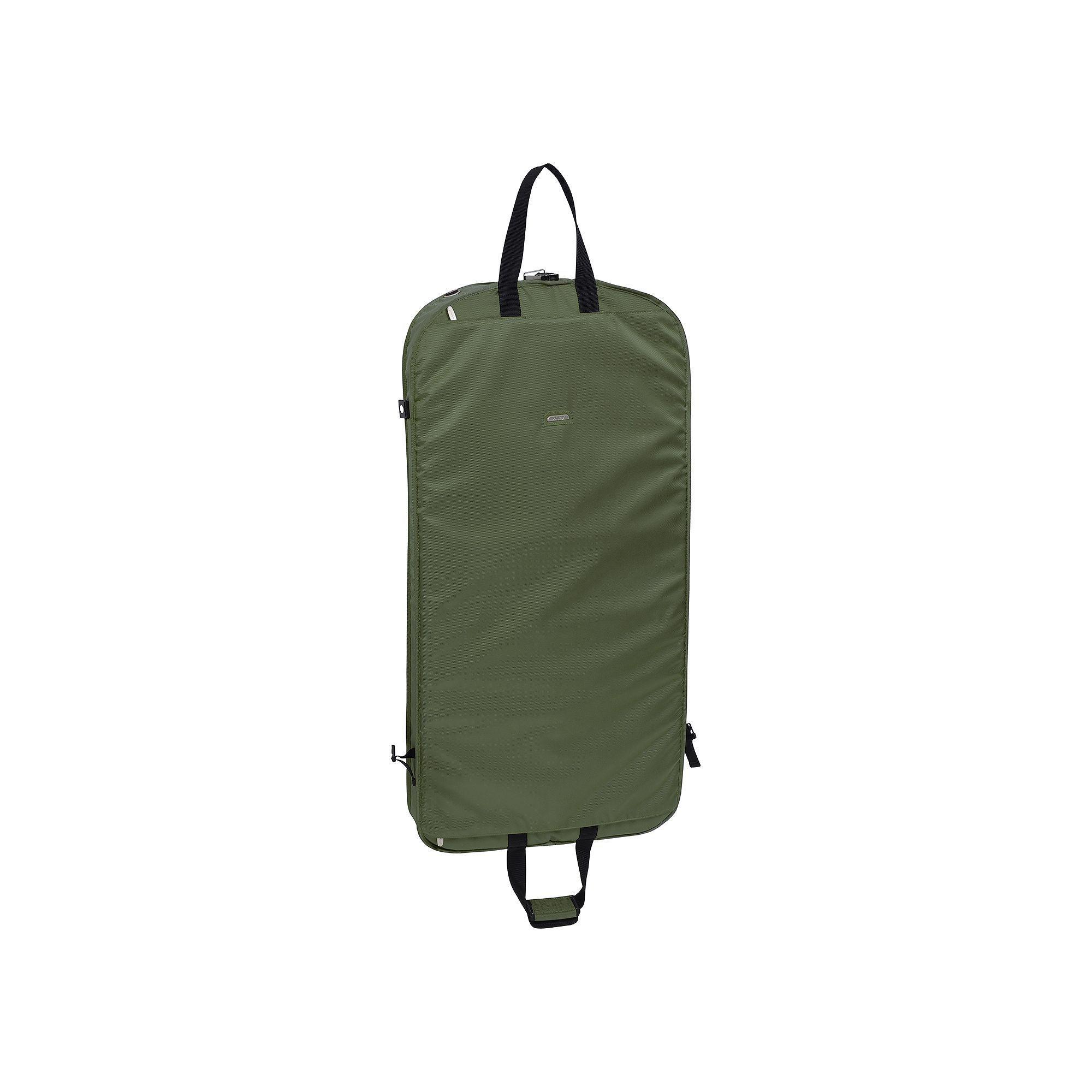 WallyBags 52-Inch Shoulder Strap Garment Bag, Green, Durable   Products a9b22c923b