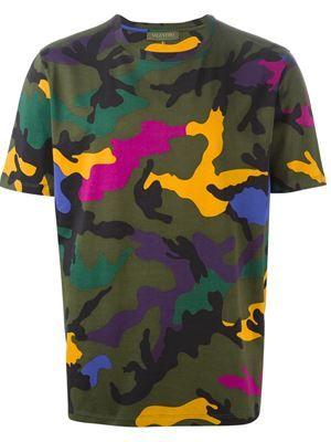 8ecd778f1 camouflage print T-shirt | CAMO | Camouflage t shirts, Valentino ...