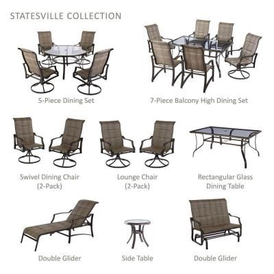 Hampton Bay Statesville Padded Patio Chaise Lounge Some