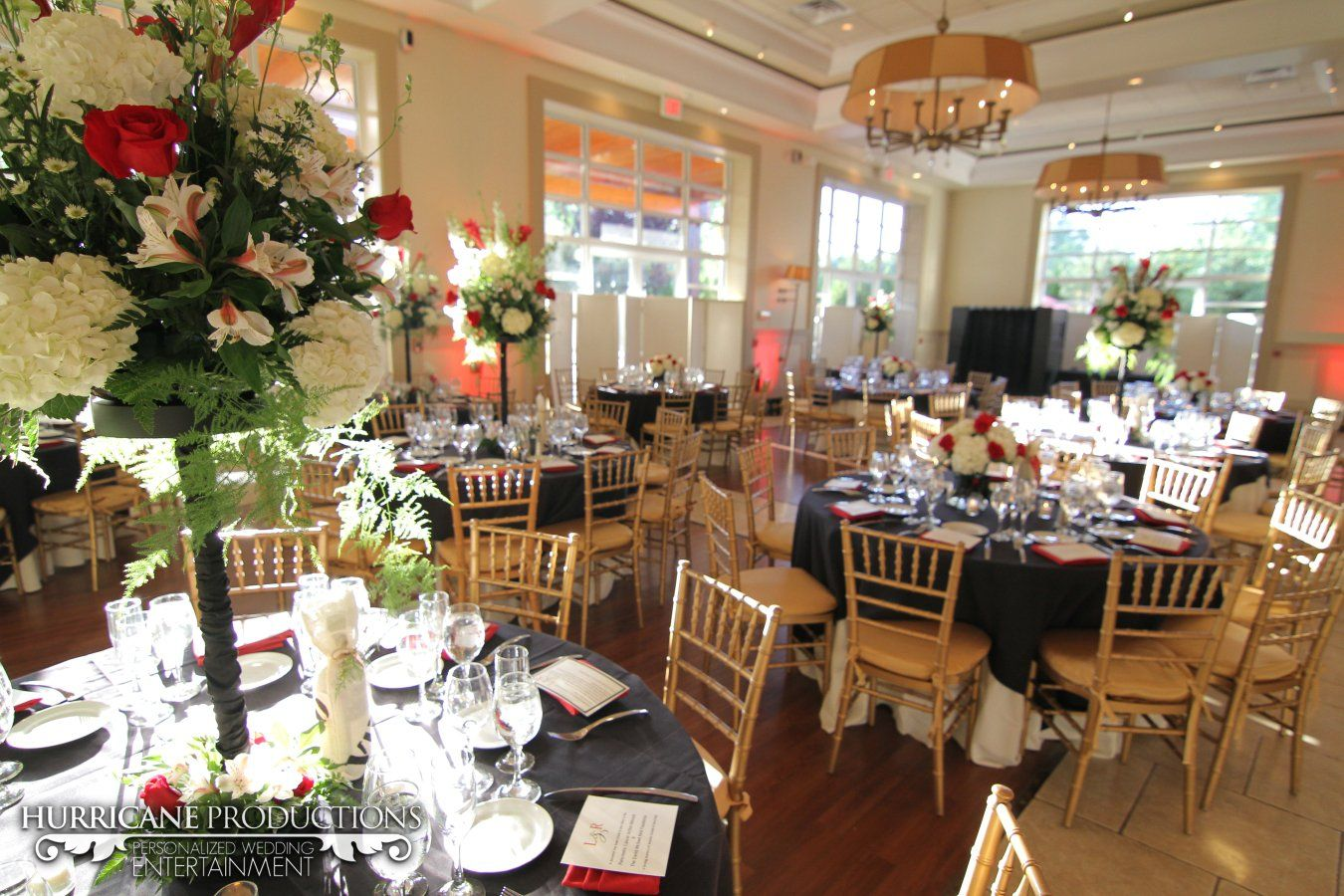 Ballroom Set Up For The Reception At Stone House Stirling Ridge In Nj