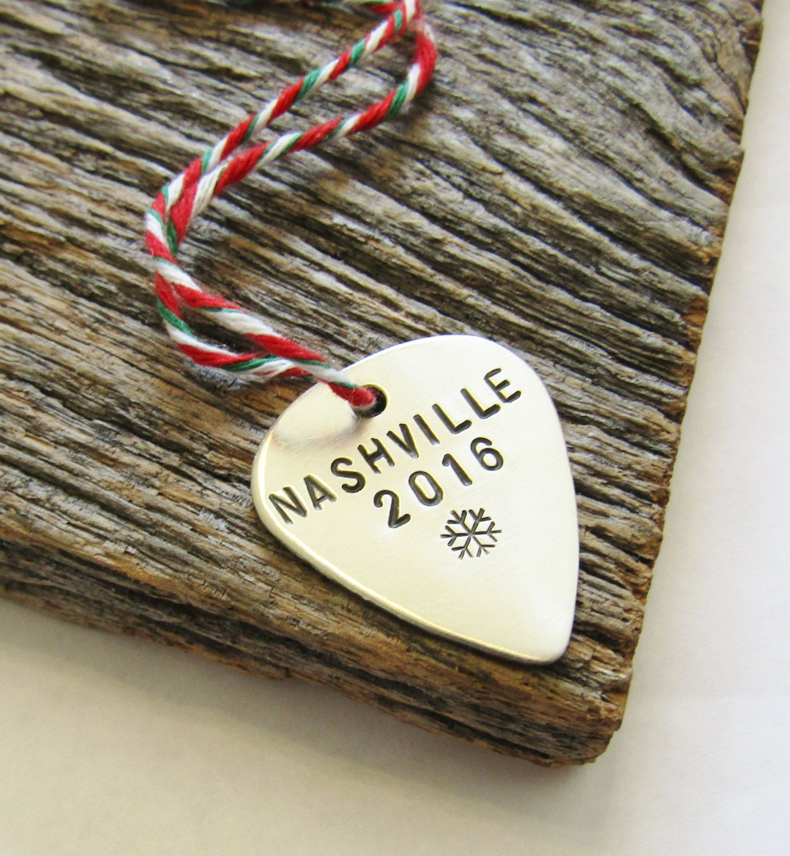 Nashville Ornament Tennessee Christmas Ornament Music Ornament