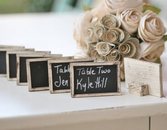 Set Of 100 Chalkboard Name Cards Place Rustic Wedding Favors