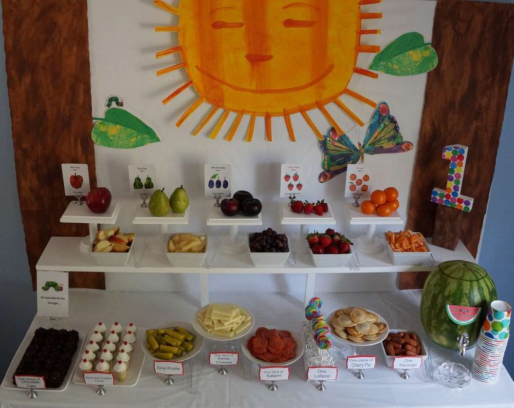 Very Hungry Caterpillar Birthday Party Ideas Very Hungry
