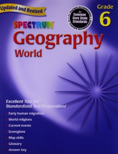 Geography, Grade 6: The World (Spectrum) by Spectrum