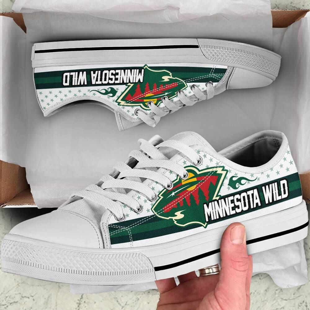 Minnesota Wild Slogan Our Ice Nhl Hockey Teams White Low Top Shoes Teextee Store Legendsince2000 Lowtopshoes Minnesotawild Nhl Nhlhock Nhl Hockey Teams