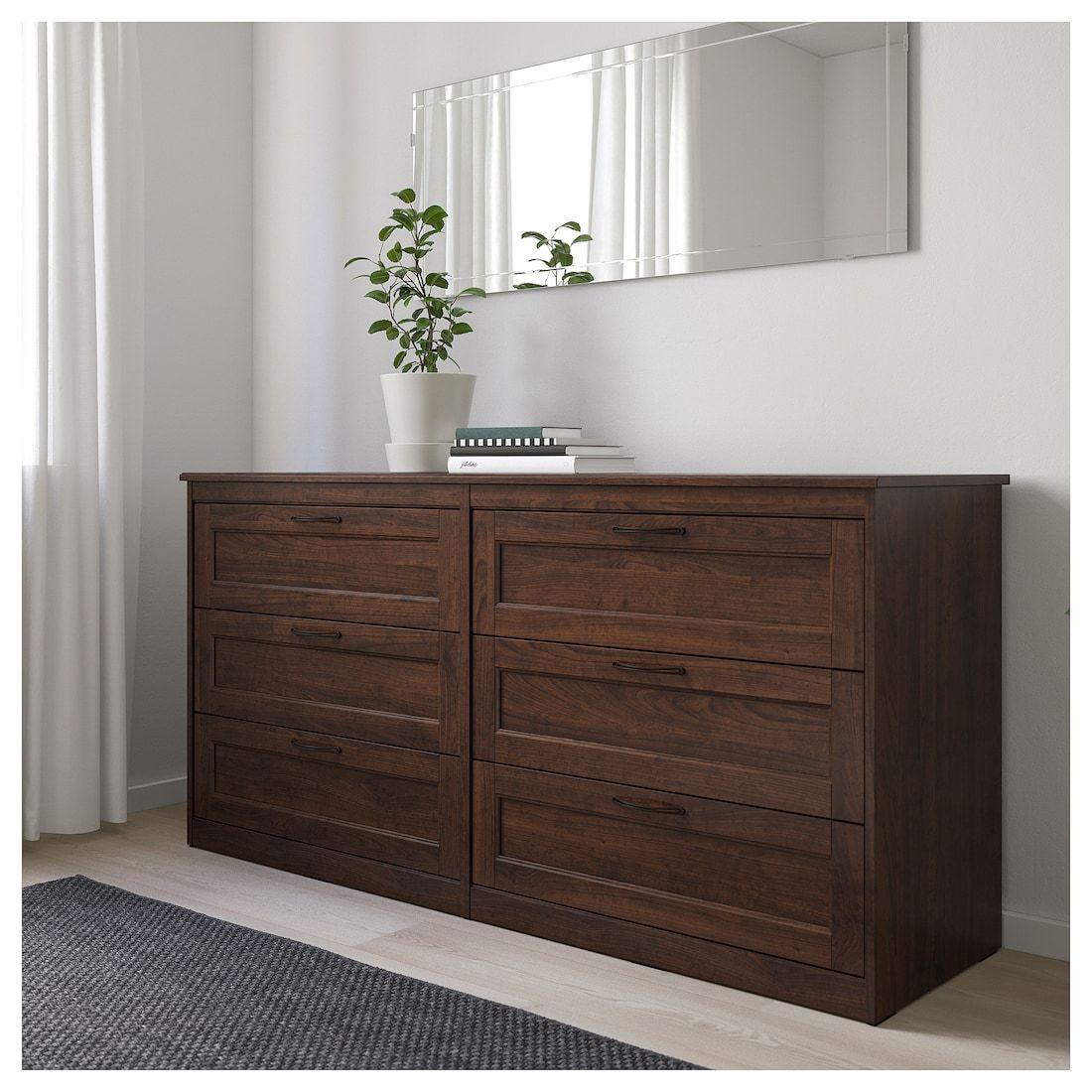 SONGESAND 6drawer dresser brown IKEA Dresser