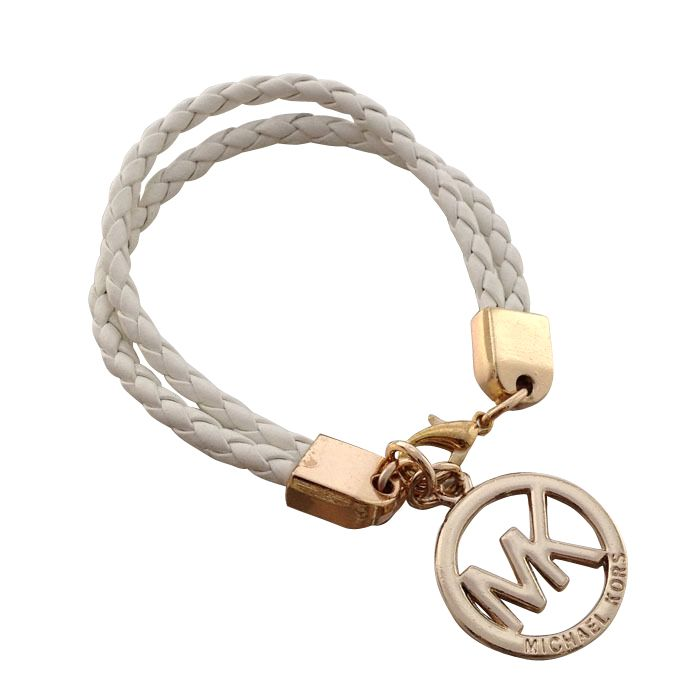 Michael Kors Braided Logo White Accessories Outlet