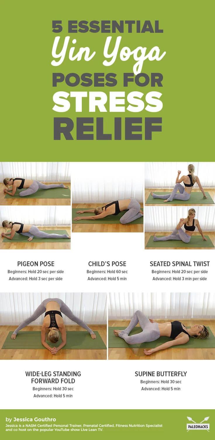5 Easy Yin Yoga Poses To Melt Away Stress Yin Yoga Poses Stress Yoga Yin Yoga