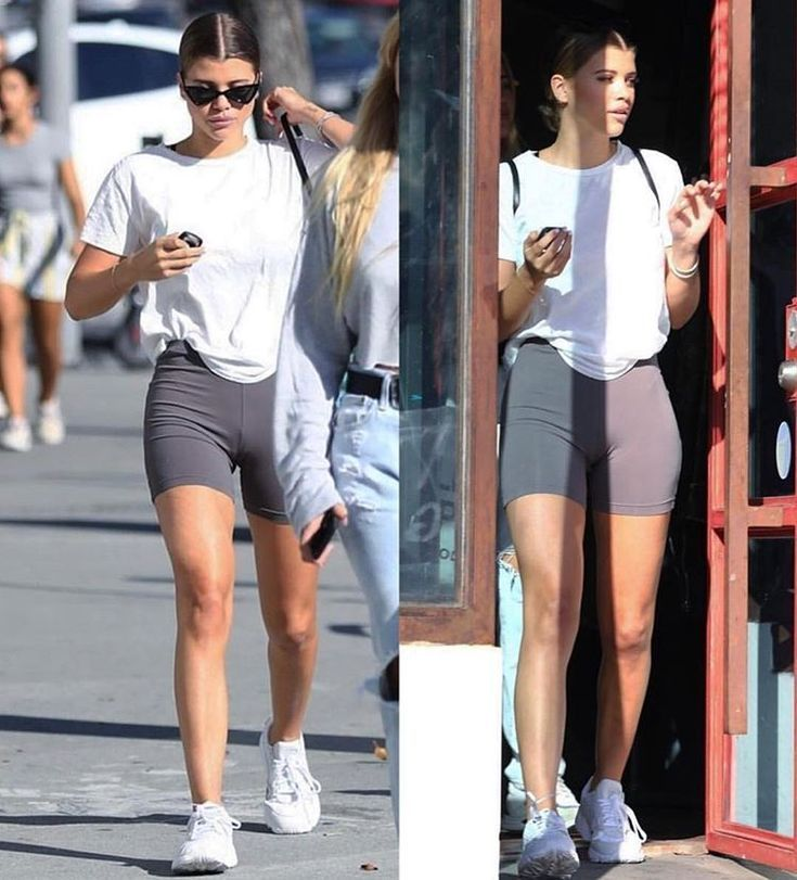 biker shorts outfit athletic