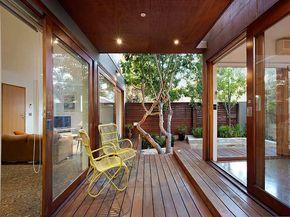 Una Casa En Melbourne Imagen De La Terraza En Madera Que