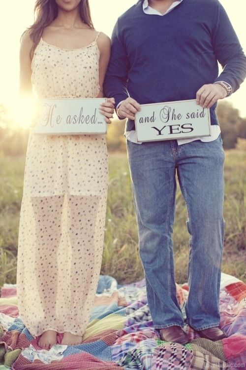 He asked and she said yes love quotes cute wedding couples ...