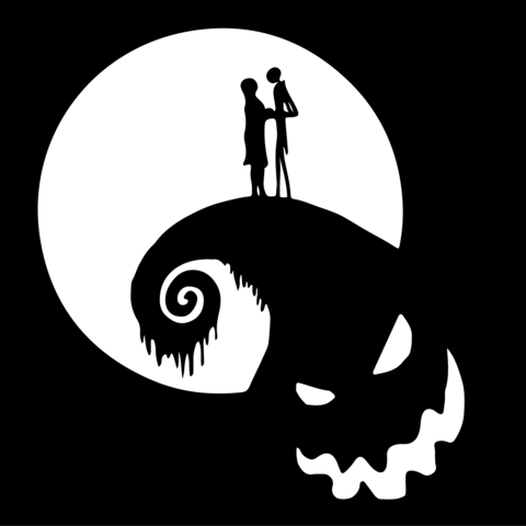 nightmare before christmas jack and sally on oogie boogie mountain vinyl decal