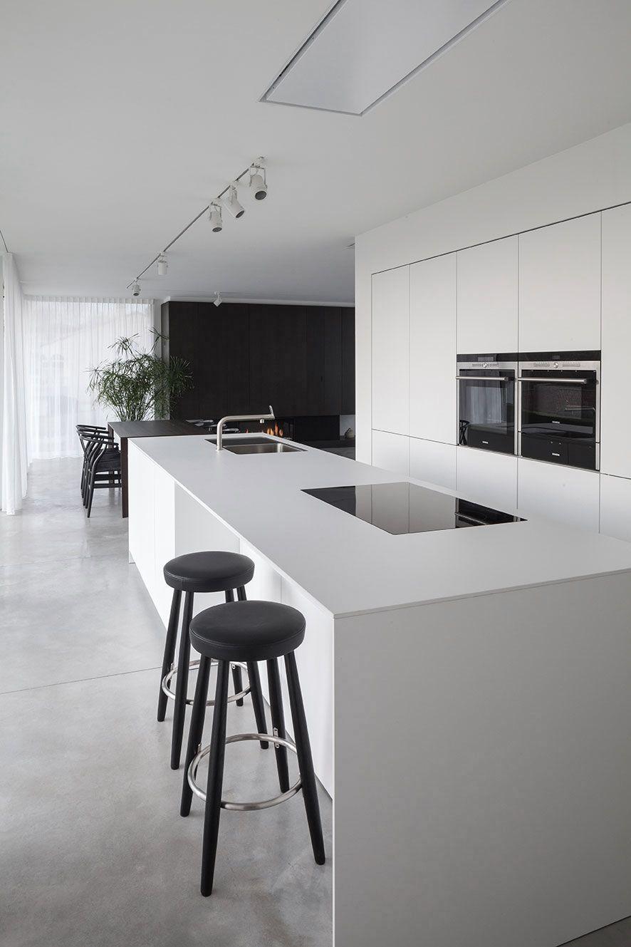 Villa CD | Küche, Moderne küche und Abgehängte decke