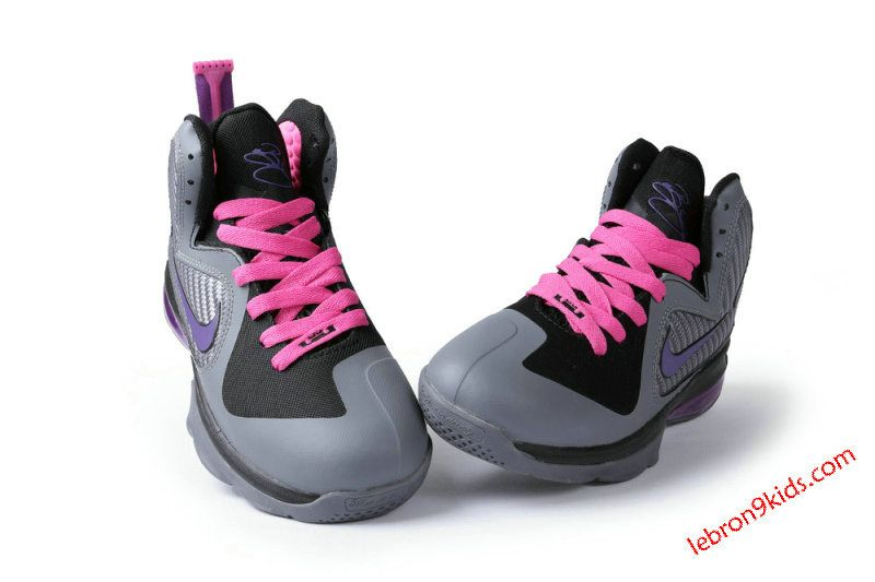 lebron miami nights kids | Miami Nights Vivid Grey Cherry Pink Ke Wholesale  $64.89-Lebron · Lebron 9Women ...